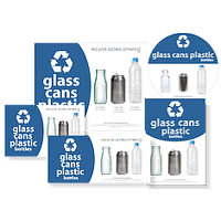 Glass, Cans, and Plastic Labels