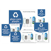 Glass, Cans, Plastic Containers, Cartons