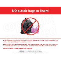 No Plastic Bags Labels