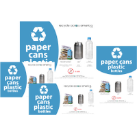 Paper, Cans, and Plastic Labels (with cartons)